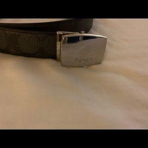 "Coach Men's leather Belt Black 48"" New"